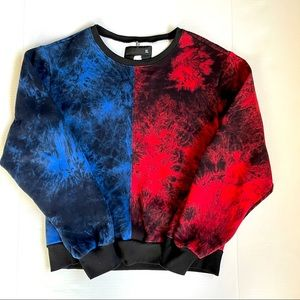 American stitch  Red and blue sweatshirt colorful